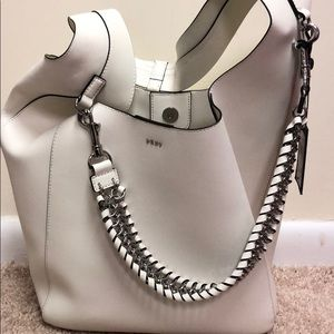 Brand new leather white shoulder bad DKNY with tag